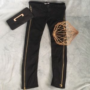Each x Other Paris Black Jeans with Gold Zippers ✨